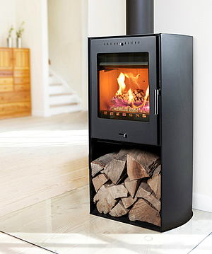 wood burning stove. very simple use