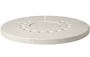 Decorative top plate made of limestone for Aduro Hybrid